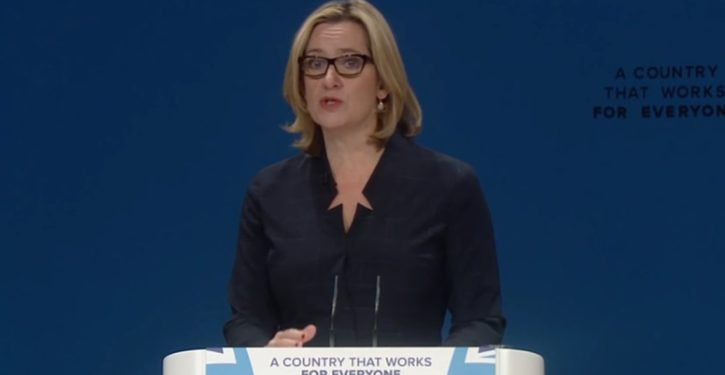 UK: Police investigated Home Secretary's political speech on foreign workers as 'hate crime'