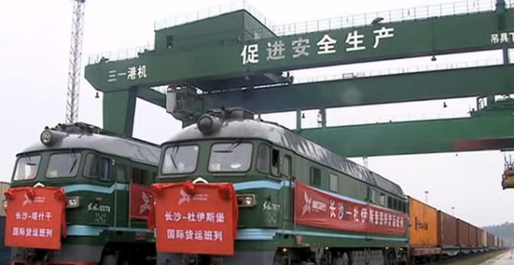 Shrinking (military) world: China launches freight train service to Britain