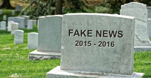 After getting burned for running phony story, WaPo says 'time to retire tainted term fake news' by Howard Portnoy