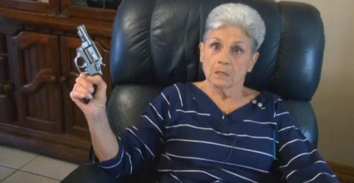 'I tried to kill him': Pistol-packing granny takes on armed burglar