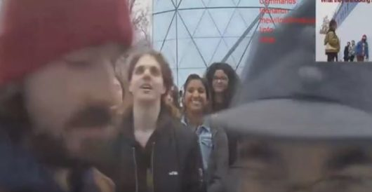 Tinseltowner Shia LaBeouf shakes counter-protester, screams 'You will not divide us' by Howard Portnoy