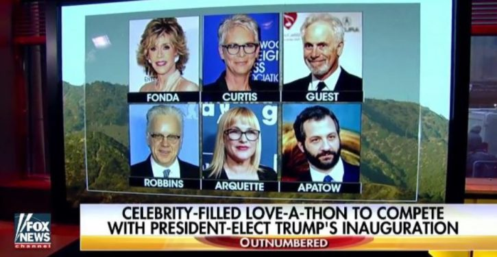 Trump Derangement Syndrome: Celebs holding a telethon opposite the inauguration