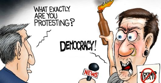 Cartoon of the Day: America fist by A. F. Branco