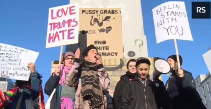 Non-Muslim anti-Trump feminists chant 'Allah [sic] akbar' at women's march