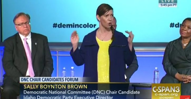 DNC chair candidate — concern-troll sweat-grenade — on a mission to 'shut white people down'