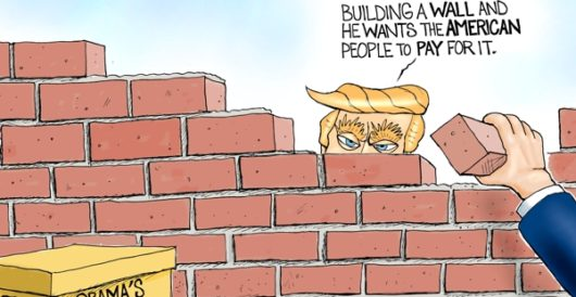 Cartoon of the Day: The Democrats' wall by A. F. Branco