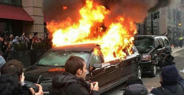 Limo torched in DC protests belonged to Muslim immigrant