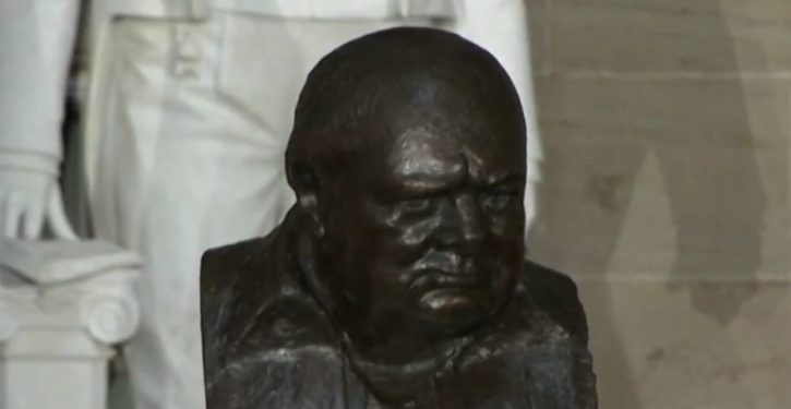 President Trump will immediately restore bust of Churchill Obama removed from Oval Office