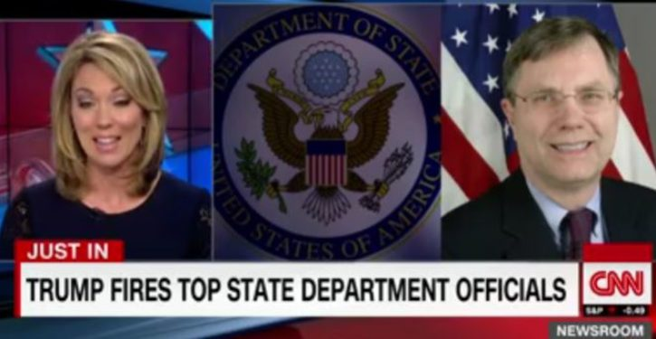 CNN headline claims Trump fired top State Dept. officials, but story says just the opposite