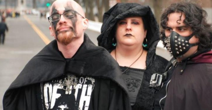 Photos of ugly Left at the inaugural: Satanists, pussy, and red fists