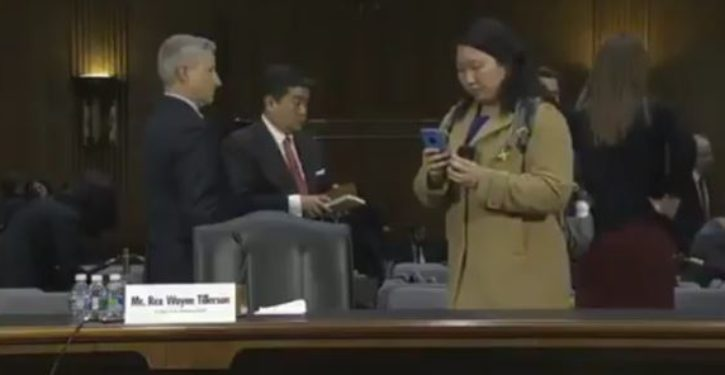 Reporter caught sneaking photos of Rex Tillerson's notes at confirmation hearing
