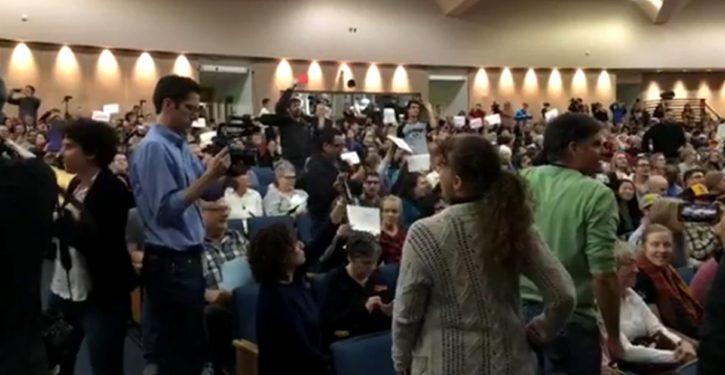 Keyword 'Indivisible': Highly organized disruptive protests at Republican town halls