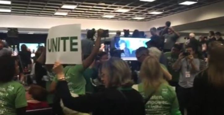 Protests erupt as vote was announced noting that Ellison would not be new DNC chairman
