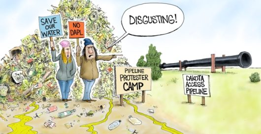 Cartoon of the Day: Giving a new meaning to 'trash talk' by A. F. Branco