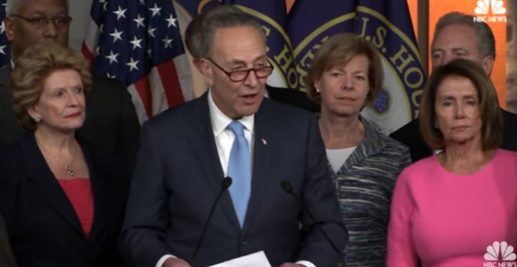 Schumer makes it crystal clear: Democrats want to extort Trump into ceasing border enforcement