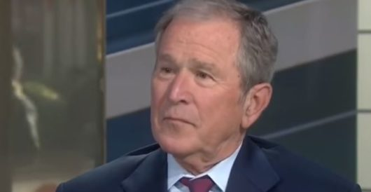 After 8 years of silence, George W. Bush finally speaks up — and removes all doubt by Howard Portnoy
