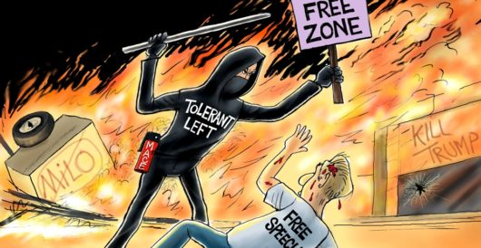 Cartoon of the Day: Hate trumps free speech by A. F. Branco