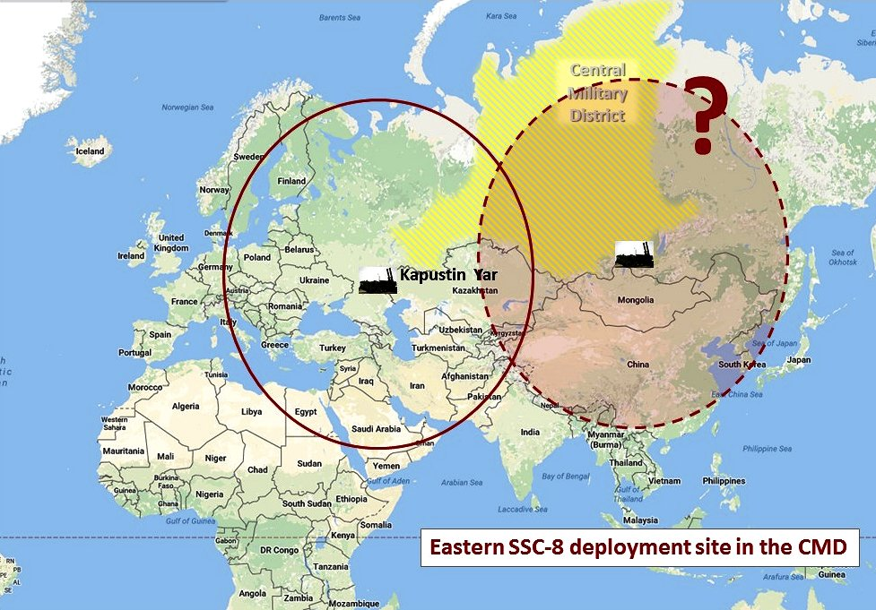 The unreported location of the deployed SSC-8 battalion could be this far east. (Google map; author annotation)