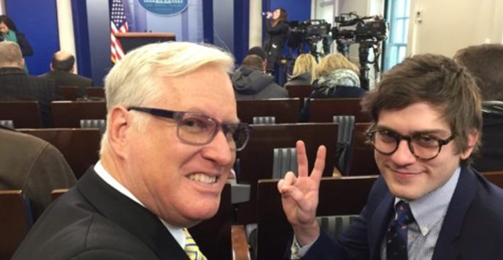 End of civilization as we know it: Gateway Pundit at White House presser!