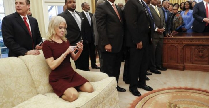 Where are women and the media to react to crude 'joke' sexualizing Kellyanne Conway?