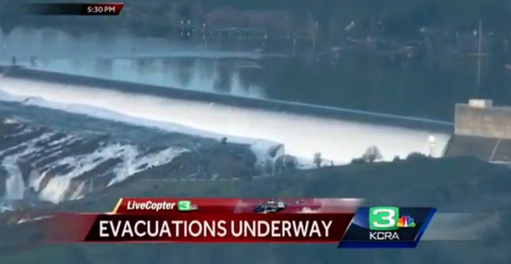 California: 200,000 under evacuation order as Oroville Dam teeters