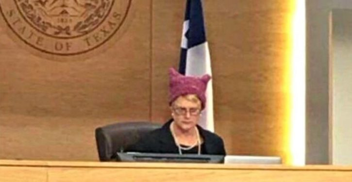 Investigation launched after Texas judge wears 'pussy hat' in courtroom
