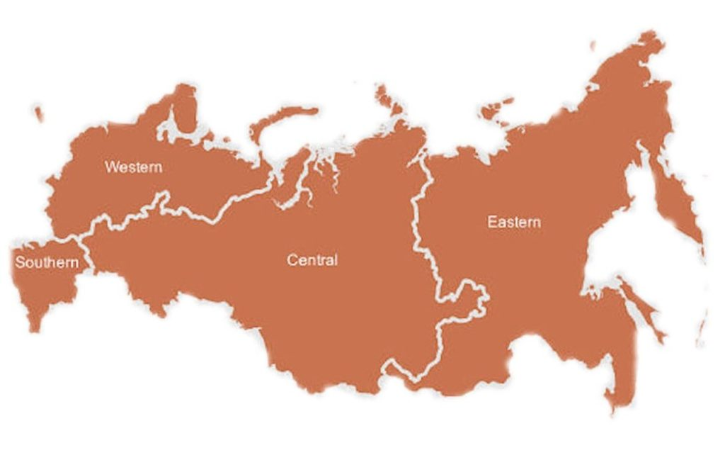 This map depicts the general boundaries of the Russian military districts. (Map credit: globalsecurity.org)