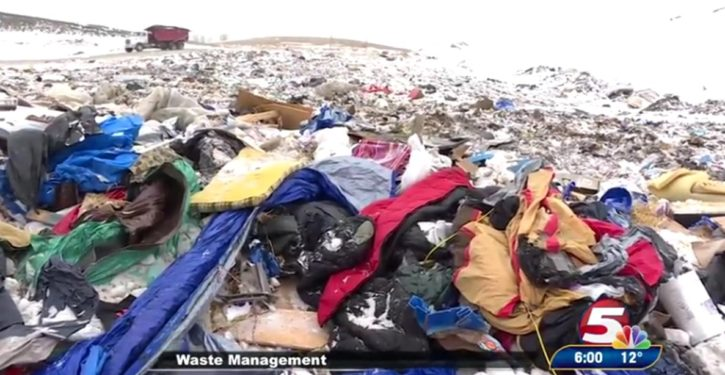 Irony: 'Water protectors' at Standing Rock left tons of trash that will…pollute the water