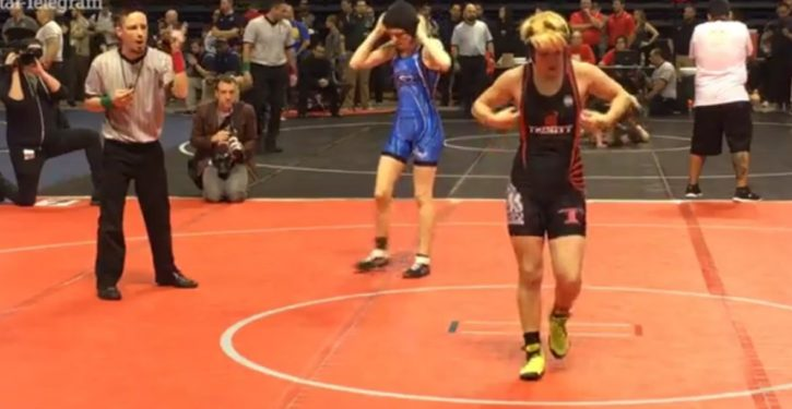Testosterone-enhanced female-to-male trans keeps beating girls in wrestling tournament
