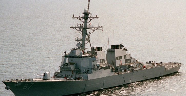 Destroyer USS Cole sent to patrol waters off Yemen after Houthi attack on Saudi warship