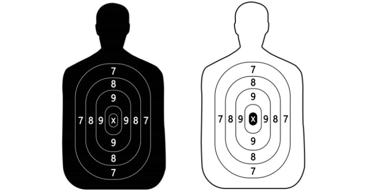 Campaign to eliminate black human silhouette targets at shooting ranges; guess why
