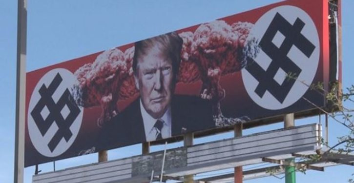 Phoenix billboard depicting Trump as Nazi was funded by taxpayers