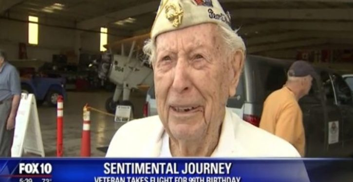 WWII vet gets ride in B-17 for his 99th birthday