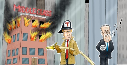 Cartoon of the Day: Saving the middle class by A. F. Branco