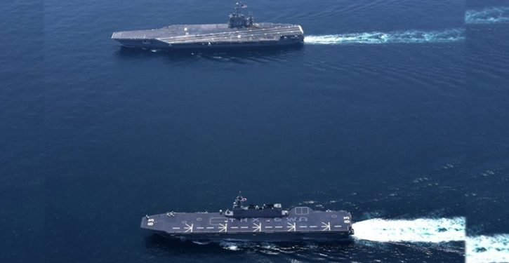 Japan deploys helicopter carrier, supposedly to escort U.S. supply ship