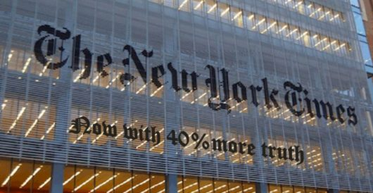 Now that Trump is president, the New York Times suddenly cares about truth by Benny Huang