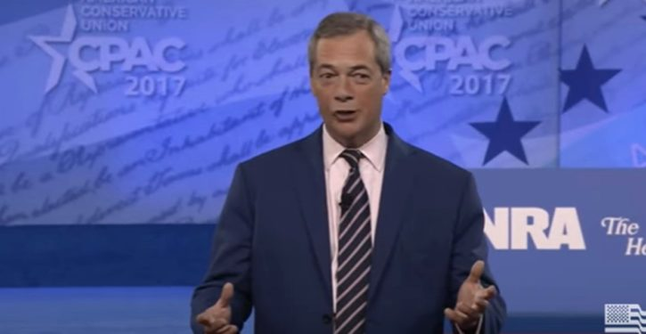 UK's Nigel Farage reveals British 'political class,' EU pols colluding to delay, derail Brexit