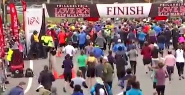 Tweet/Video of the Day: What came shining through at a half-marathon