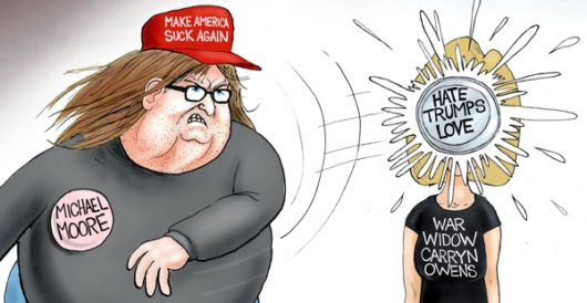 Cartoon of the Day: 'Moore' hate from the Left by A. F. Branco