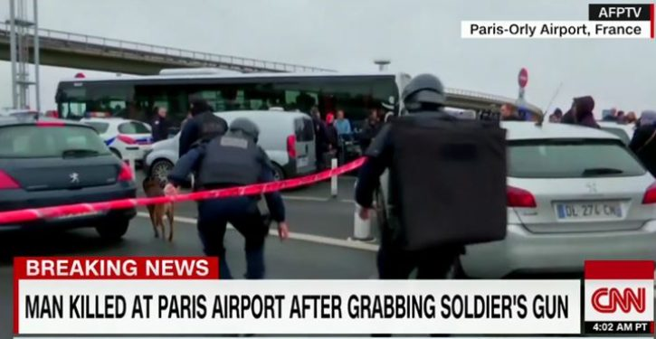 Radicalized Muslim dead at Paris airport after attacking soldier