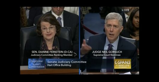Watch Gorsuch take Feinstein to school on his record of fairness on Day 2 of hearings by LU Staff