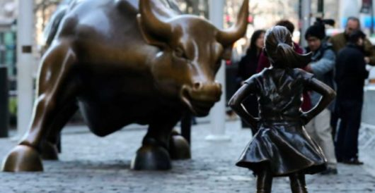Sculptor adds his two cents to Wall St. art fight with statue of urinating dog at feet of 'Fearless Girl' by Howard Portnoy