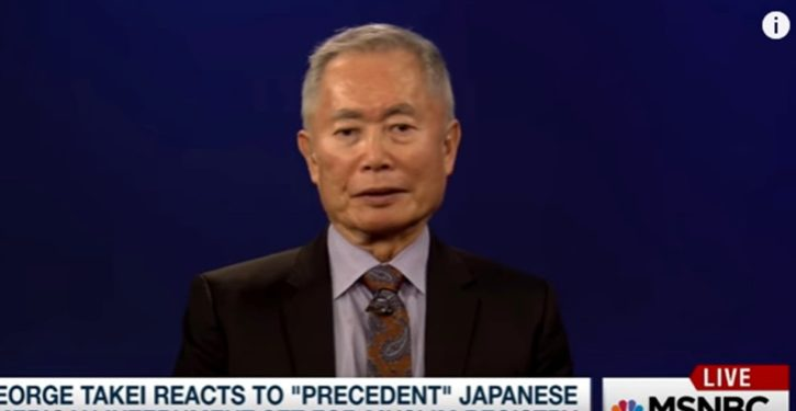 Phasers on stun: George Takei locks on a new political target