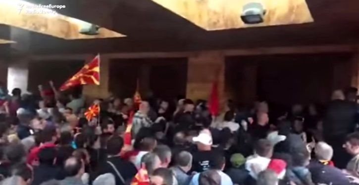 Soros legacy: Attack on Macedonian parliament after members held unconstitutional leadership vote