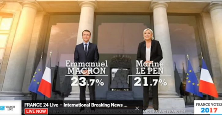 France, EU, civilization as we know it: Macron-Le Pen runoff; UPDATE: Fire in the streets, 'Russia hacking' theme