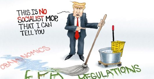 Cartoon of the Day: Cleanup on aisle America by A. F. Branco