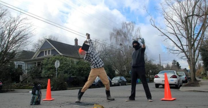 Only in Portlandia: Anarchist movement now has road repair auxiliary
