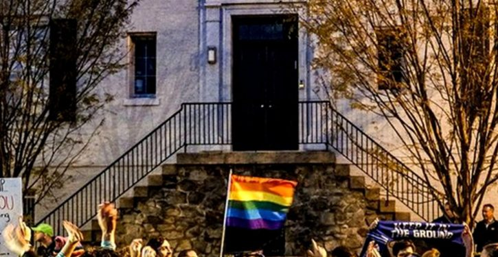 Queer Climate Justice protest stages 'dance party' outside Ivanka and Jared's home in D.C.