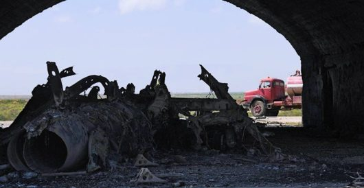 Pentagon publishes images of damage done to Syrian air base by LU Staff