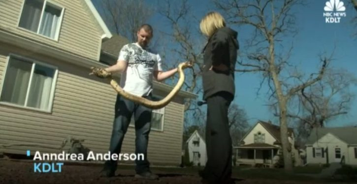 South Dakota man fined $190 for not having snake on a leash